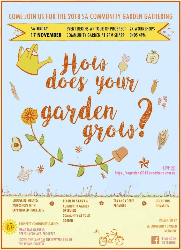 2018 community garden publicity